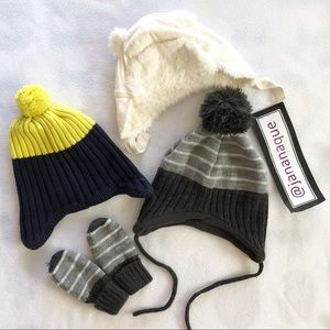 Other - Infant Beanies mittens from Old Navy Baby Gap H&M